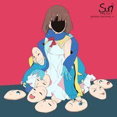 Mimi N are creating SUN Project - Fanart - Critique Dark Art Illustrations, Illustration Art, Image Triste, Manga Art, Anime Art, Sun Projects, Sad Drawings, Vent Art, Arte Obscura