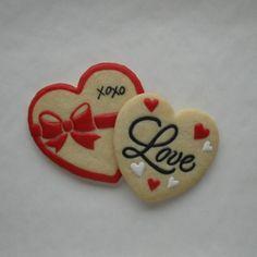 Valentine Sugar Cookies - Lightly Decorated