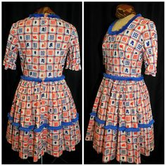 Vintage 1960's / Square Dance Dress / Size Large by CicelysCloset