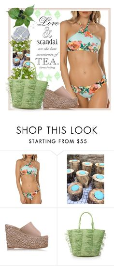 """Tea bikini"" by greensparkle1 ❤ liked on Polyvore featuring BECCA by Rebecca Virtue, Hostess and Sensi Studio"