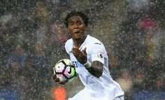 Leroy Fer of Swansea City celebrates scoring his sides  goal during the…