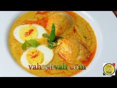 ▶ Egg Korma - By VahChef: 2 tbsp cooking oil 1/2 tsp cumin seeds 1 tbsp ginger garlic paste 2 number green chillies finely chopped 4 number hard boiled eggs 4 number large tomatoes finely chopped 2 number medium onions finely chopped 1/2 tsp mustard 1/2 cup shredded coconut
