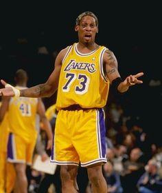 b8a5215d4 Dennis Rodman... anyone know how long he was a Laker? Sports Basketball