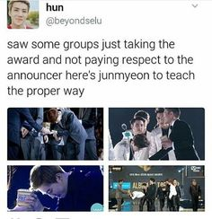 learn from the best. i am glad junmyeon is exo's and our leader ❤