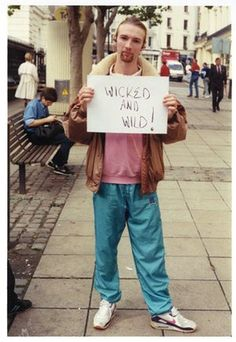 Gillian Wearing.  Wicked and Wild!  1992-93.