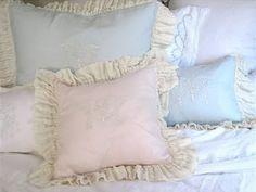 pretty monogrammed pillows