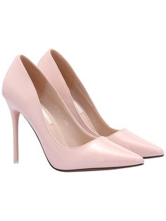 Pink Pointed Toe Patent Leather Pumps   Price: $42.68