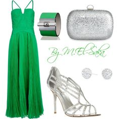 Green and Silver, created by mohamed-el-saka on Polyvore