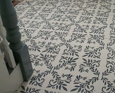 pain then stencil the floor. LOVE THIS IDEA!!!