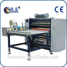 China Most Professional Sanyo Servo Motor Tension Control CE Certificated High Speed Thermal Transfer Ribbon Slitter Rewinder
