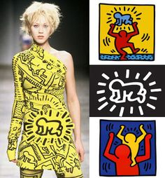 Moda e Arte - Jean-Charles Castelbajac - Keith Haring - 2002 Pop Art Fashion, Fashion Prints, Fashion Design, Fashion Ideas, Sonia Delaunay, Arte Pop, Piet Mondrian, Mark Rothko, Moda Pop Art