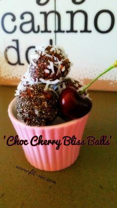 Choc cherry bliss balls