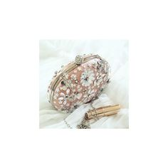 Embellished Floral Clutch ($58) ❤ liked on Polyvore featuring bags, handbags, clutches, accessories, flower print handbags, floral clutches, floral print purse, flower print purse and floral print handbags