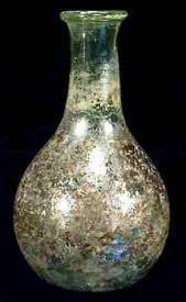 Rare Ancient Roman Iridescent Glass Flask 5th century AD