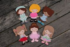 All Girl Paper Doll Set In the Hoop Embroidery Designs