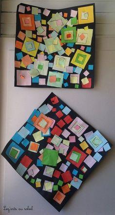 Piet Mondrian lignes verticales et horizontales graphisme grande section…