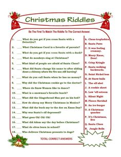Christmas Riddle Game DIY Holiday Party Game Printable Christmas Game DIY Game For Holiday Xmas Game Idea Kid Game Printables 4 Less Kersfees Xmas Games, Printable Christmas Games, Holiday Party Games, Holiday Fun, Christmas Holidays, Christmas Trivia Games, Christmas Scavenger Hunt, Christmas Party Games For Groups, Christmas Gift Exchange Games