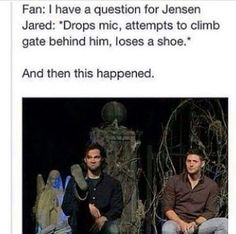 Just when you think you can't love J2 more, this happens
