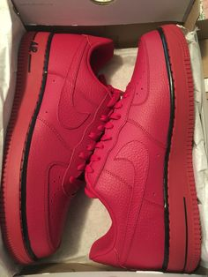 Nike Air Force 1 Red with Black