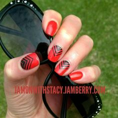 Clear over Red Nail- See this Instagram photo by @jamonwithstacy • 14 likes