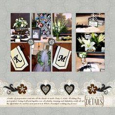 Divine #Digital #Wedding Planning #Scrapbooking Layout from Creative Memories    http://www.creativememories.com