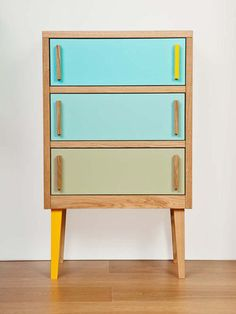 stuart melrose via design milk (I want an outfit in these colors) Upcycled Furniture, Furniture Projects, Kids Furniture, Furniture Decor, Painted Furniture, Modern Furniture, Furniture Design, Primitive Furniture, Modular Furniture