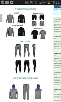 https://www.kickstarter.com/projects/358665388/a-new-rhino-technical-product-range Back us on kickstarter and grab or compression and technical fleece ranges at special early bird prices! Funding goal is to develop our new women's range.