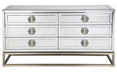 Shop Rochester Chest at Interiors Online. Exclusive High End Furniture. Mirrored Bedroom Furniture, Chest Furniture, Antique Chest, 6 Drawer Chest, Interiors Online, Wow Products, Contemporary Design, Drawers, Simple