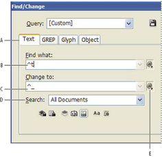 Adobe InDesign * Find/Change GREP codes for InDesign