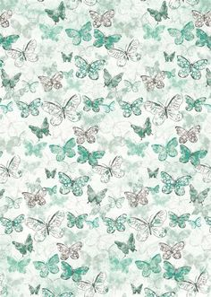 PRINTABLE TIP! Why not consider pretty scrapbook paper, like these pretty butterflies, to add variety to a gallery wall?