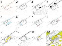 BIG RESEARCH CENTRE IN PARIS diagram 600x444 BIG + OFF Win the Competition to Design a Research Centre in Paris