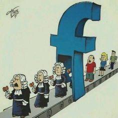 Depois que se passam pelo Facebook, todos viram juízes, julgando tudo e todos nas redes sociais.