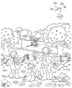 Automne : Coloriage. Migration, vent, feuilles... Autumn Activities For Kids, Nature Activities, Coloring Book Pages, Coloring Sheets, Embroidery Art, Embroidery Patterns, Quiet Book Patterns, Autumn Crafts, Autumn Inspiration