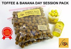 RBA Toffee & Banana Day Session Pack FRESH-FREEZE HNV Boilies Carp Fishing Bait #RBA