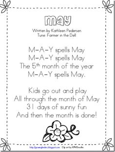 This would be great for one calendar day a week focusing on month This would be great for one calendar day a week focusing on month The post This would be great for one calendar day a week focusing on month appeared first on Pink Unicorn. Kindergarten Poems, Kindergarten Calendar, Preschool Calendar, Calendar Activities, Calendar Songs, Calendar Time, Calendar Ideas, Months Song, Months In A Year