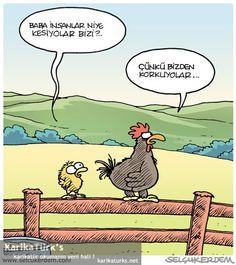 Bizden korkuyorlar :) - Karikatür okuma'nın yeni hali !