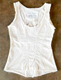 In Store Now: Come browse our machine made line A. Chanin, including this Corset Tank ($200).