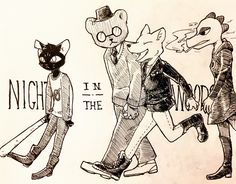 Night in the Woods (inked version)
