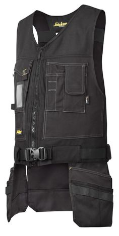 This versatile Toolvest gives you easy access to your essential tools at all times. Count on ergonomic tool carrying and all the pockets you need combined with outstanding working comfort. Features: Wide shoulder straps and stretch fabric in the back for increased working comfort. Cordura® 1000 reinforced front holster pockets with tool loops for enhanced durability and easy-access angled rear holster pockets. Cordura® reinforced breast pockets including knife fastener, easy-access mobile…