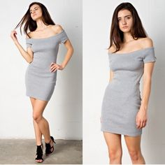 Hp🎉April Spirit Dress 95% Polyester 5% Spandex Gray Rib knit. This sexy dress can be paired with sandals and it's the perfect date night dress. Super cute. Lowest price listed! No offers please.... April Spirit Dresses Mini