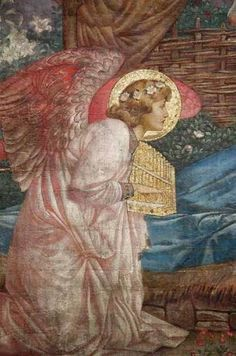 paintings of christmas angels | Detail, Nativity Wall Painting, Saint Augustine Church, London