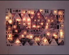 Diy Wall Art, Diy Art, Christmas Art, Christmas Decorations, 3d Art Drawing, Indian Folk Art, Cardboard Art, Lighted Canvas, Pop Up Cards
