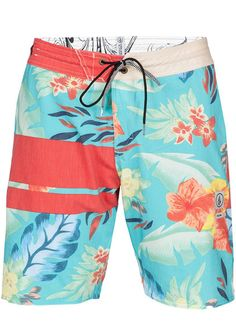 Shop Volcom 3 Quarta Slinger Boardshorts in Orange/Red | Jack's Surfboards