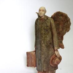 Angel daily 2.23/Ceramic Sculpture /Unique Ceramic Figurine /Ceramic People by arekszwed on Etsy