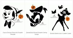 Free Printable Disney stencils (pumpkin carving or t-shirt designs)
