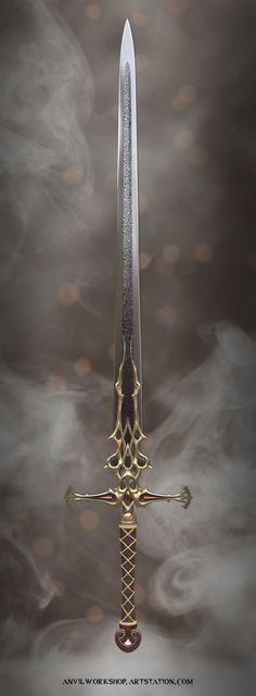 Fantasy Sword, Fantasy Castle, Fantasy Armor, Fantasy Weapons, Medieval Fantasy, Dark Fantasy Art, Armor Concept, Weapon Concept Art, Swords And Daggers