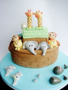 Noah's Ark Cake by lydiabakes, via Flickr