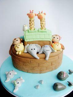 Bolo Arca de Noé por lydiabakes, via Flickr