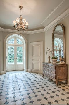 Tile in the French Foyer