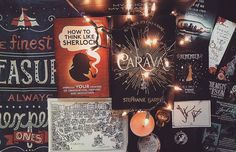 """Hello #bookstagram!! So I thought I'd finally post an #unboxing of my January @fairyloot box! The book of the month was Caraval by @stephanie_garber and it is so good!!! Also in the box was:  a candle from Meraki Candles!  a """"How To Think Like Sherlock"""" book by Daniel Smith  a Game of Thrones FUNKO Mystery Mini (I think the one I got is Tyrion maybe???)  a rose necklace made by Panda Eyes  a Night Circus pillowcase designed by Risa Rodil  an Alice in Wonderland bookmark from Read at Midnight…"""